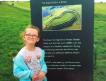 Here is a picture of Kiera visiting Maiden Castle near Dorchester
